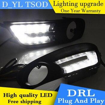 Car styling For Nissan Tiida 12-15 LED DRL For led fog lamps daytime running High brightness guide LED DRL light Automobile.
