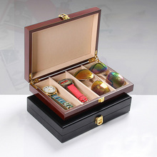 Mordoa 4 Slots 3Dglasses Sunglasses Wood font b Storage b font Organizer Display Case Box Watch