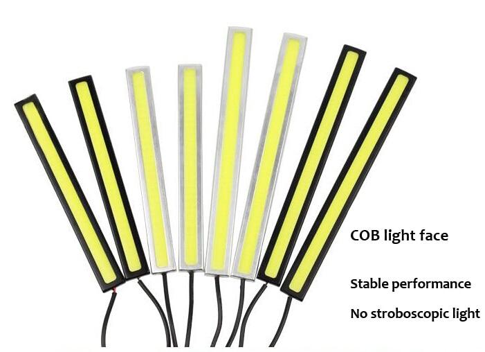 2pcs Ultra-thin 0.5W 14CM COB Chip New Update LED Daytime Running Light unwaterproof LED DRL Fog Car Lights Parking