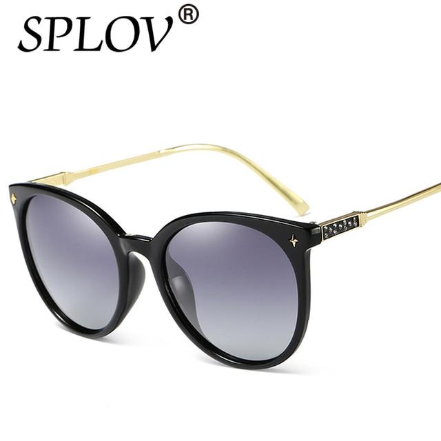 Diamant Chat Yeux Lunettes De Soleil Polarisées Couleur Film Anti UV lunettes  de Soleil Fleurs Aviation 5308edc956c6