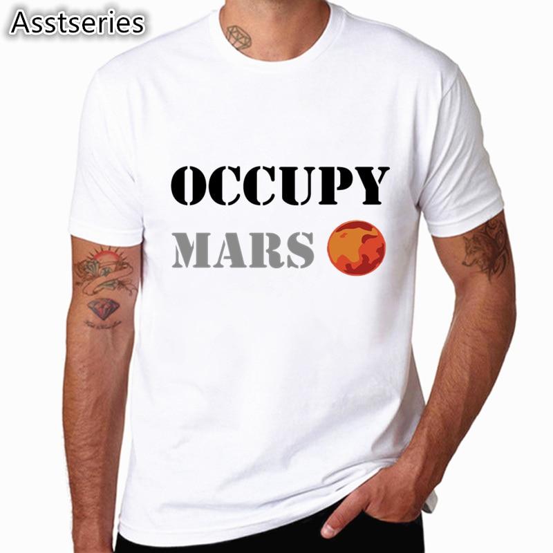 SpaceX T shirts Men Space X Logo Men's T-shirt Popular Custom Short Sleeve Occupy Mars Tshirt HCP4538 3