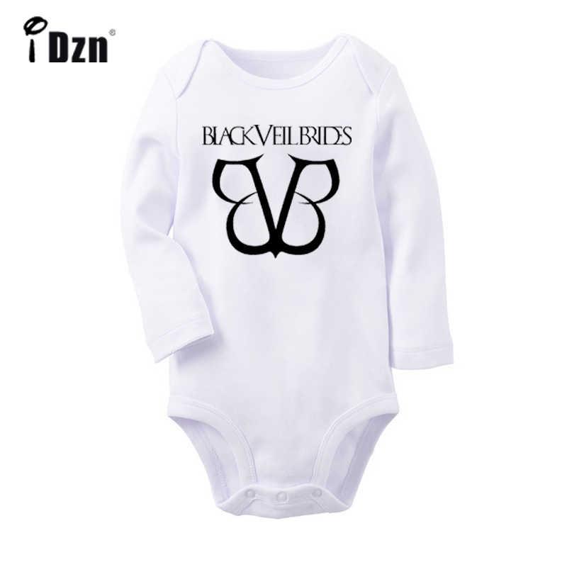 Черная вуаль невесты команды BVB Arctic Monkeys дизайн рок-группы новорожденных боди с длинными рукавами Onsies комбинезон одежда