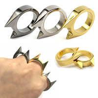 1 piezas de auto-defensa anillo mujeres portátil dedo armas seguridad supervivencia Anti-Lobo anillo de dedo herramienta de defensa Unisex proteger al aire libre
