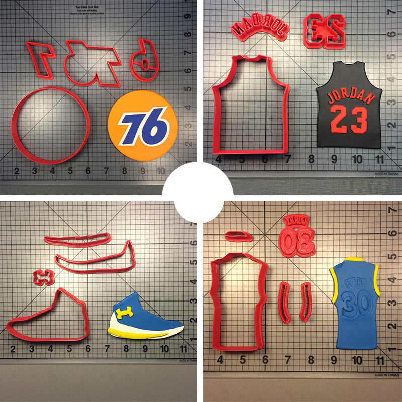 507a9ab8062c Profession American Basketball Cookie Cutter Custom Made 3D Printed Jersey  Shoes Fondant Cupcake Top Cake Cookie