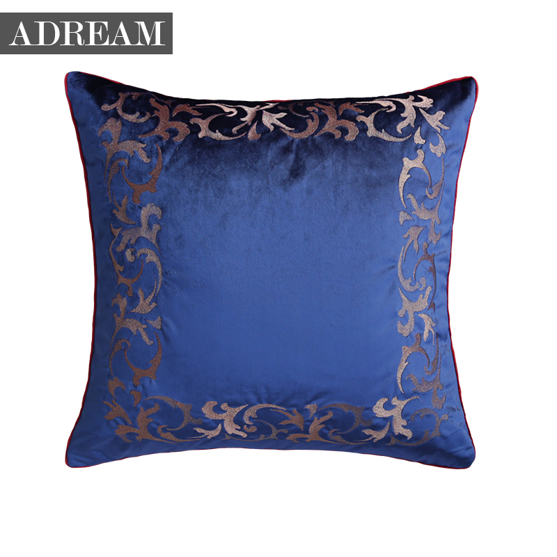 Adream Faux Silk Cotton Flannelette Cushion Cover Euro