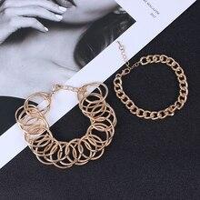 цена на Bohemian Multilayer CZ Stone Feather Bracelet Set for Women Vintage Godness Key Heart Leaf Chain Bracelet Female Jewelry NEW