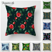 Fuwatacchi Tropical Style Pillow Cover Flower Leaf Pineapple Cushion Cover for Home Chair Sofa Red Flower Decorative Pillows цены