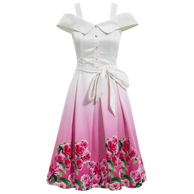 Aliexpress.com: Comprar Mujeres Vestido Vintage 1950 s Estilo de la ...