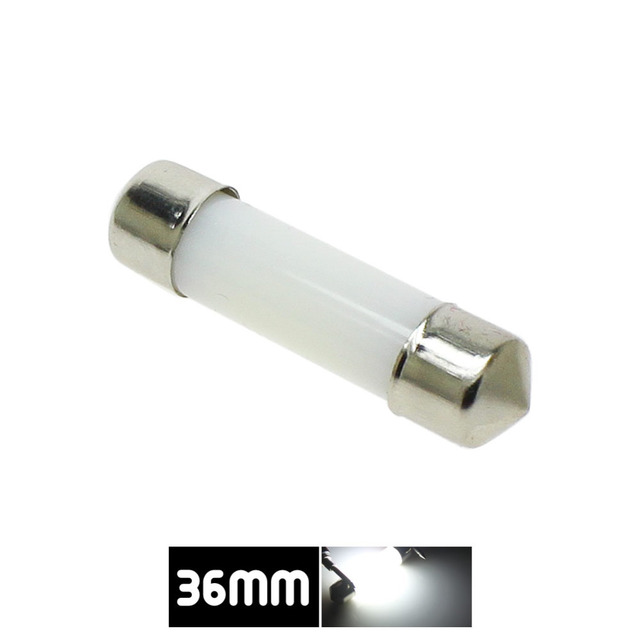 Dôme de décoration LED 31mm 36mm 39mm 41mm c5w 212-2 6418 blanc froid lecture plaque d'immatriculation lampe lumière LED ampoule couverture laiteuse ampoules 12V 2