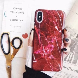 Image 2 - 30PCS Luxury Marble Granite Stone Cover For iPhone XS Plus Cute Soft TPU Case For iPhone XS MAX Case Silicon Case Capa