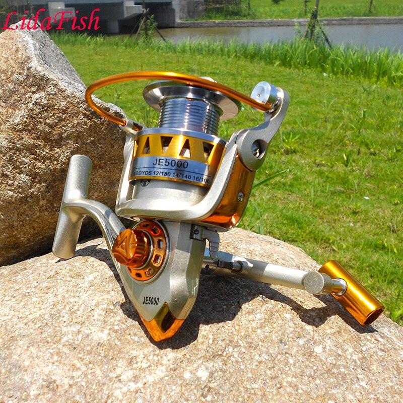 Selling JE2000-7000 series fishing wheel 12BB metal head fishing wheel spinning wheel pesca free shipping