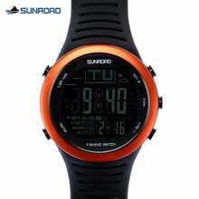 الرجال الرياضة الساعات متعددة الوظائف الرقمية ساعة الصيد الكل في واحد 5ATM مقاوم للماء بارومتر مقياس الارتفاع ميزان الحرارة سجل ساعة