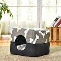 Multi-funcional de tres-cama de perro de algodón perrera Casa de mascotas cachorro casa patrón hueso Color gris S/ M de gran calidad Cama de Gato