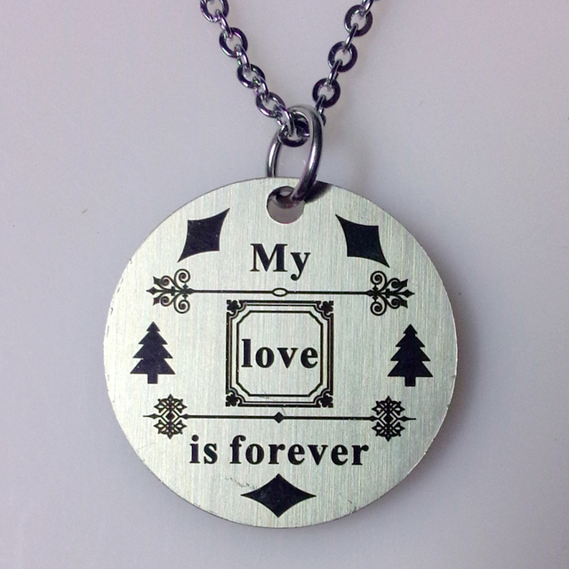 10pcslot stainless steel jewelry my love is forever circle pendant 10pcslot stainless steel jewelry my love is forever circle pendant necklace meaning aloadofball Images