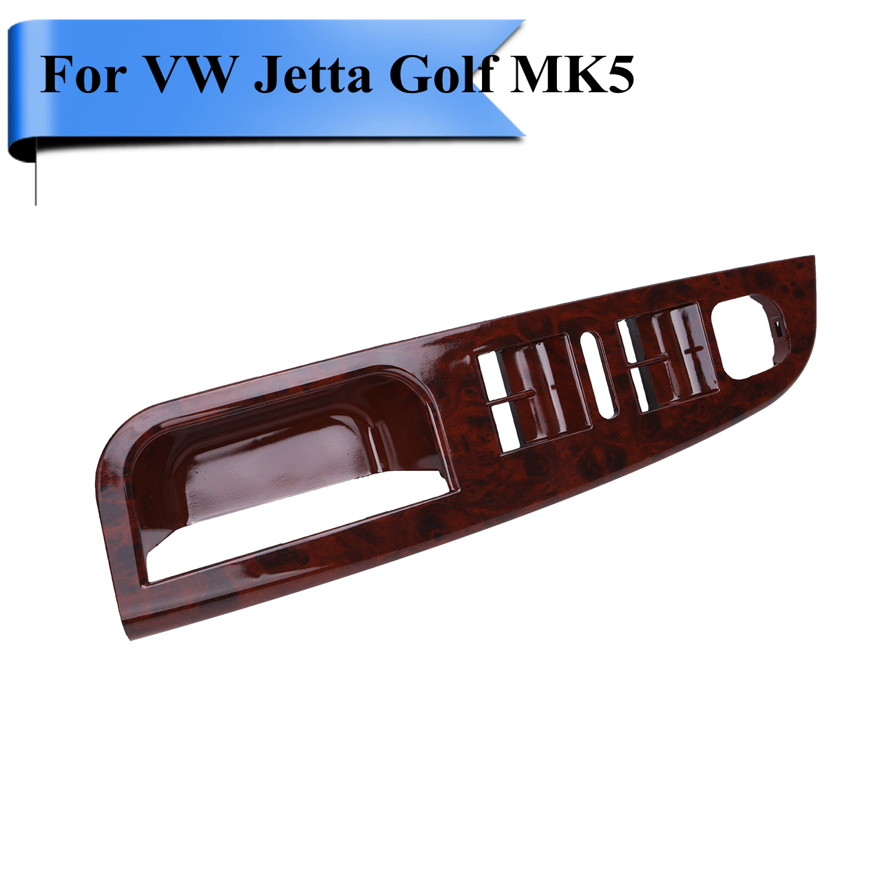 Wood Grain LHD Master Window Handles Mirror Switch Panel Trim Bezel Cover  For VW Jetta City TDI Golf 5 MK5 Replacement #P489 - Replace Wood Paneling Promotion-Shop For Promotional Replace Wood
