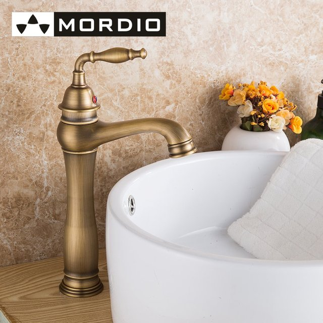 Freeshipping Taps Vintage Style Single Control Rustic Bathroom Faucet  Antique Copper Finish Bathroom Sink Faucet With