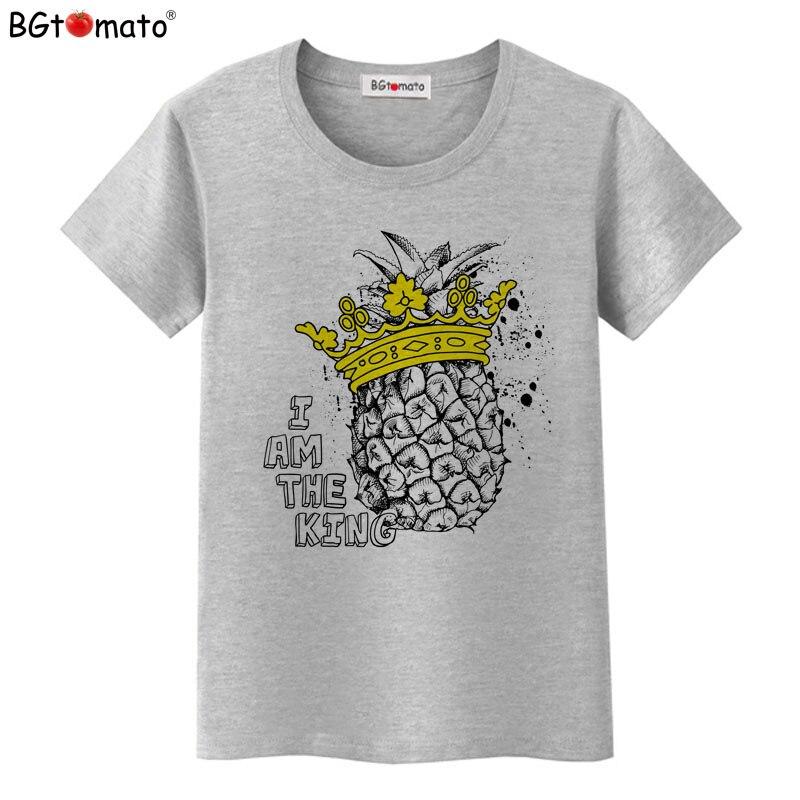 Bgtomato Новый Стиль Прохладный ананас Футболки личность дизайн Летняя одежда Лидер продаж прикольные футболки модные футболки