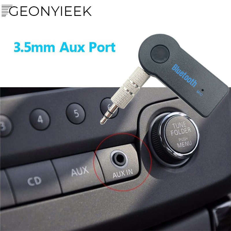 Bluetooth Receiver Hands Free Car Kit Wireless Music Adapter: Bluetooth AUX Audio 3.5MM Jack Music Bluetooth Receiver Car Kit Wireless Speaker Headphone
