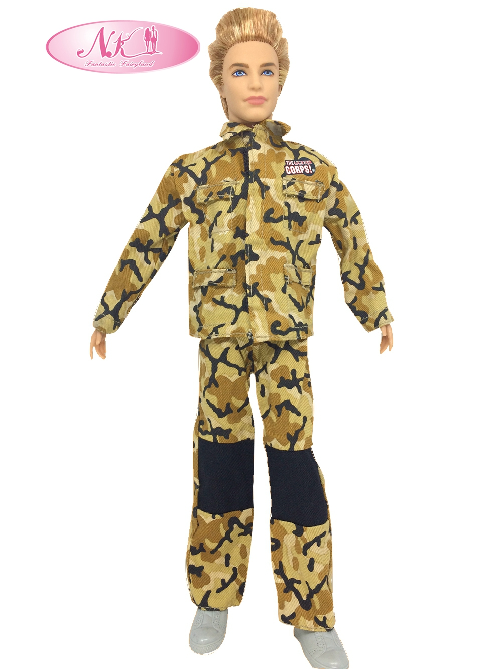 NK Unique Doll Prince Garments Marines Fight Uniform Outfit For Barbie Boy Male  Ken Doll For Lanard  1/6 Soldier  Greatest Present