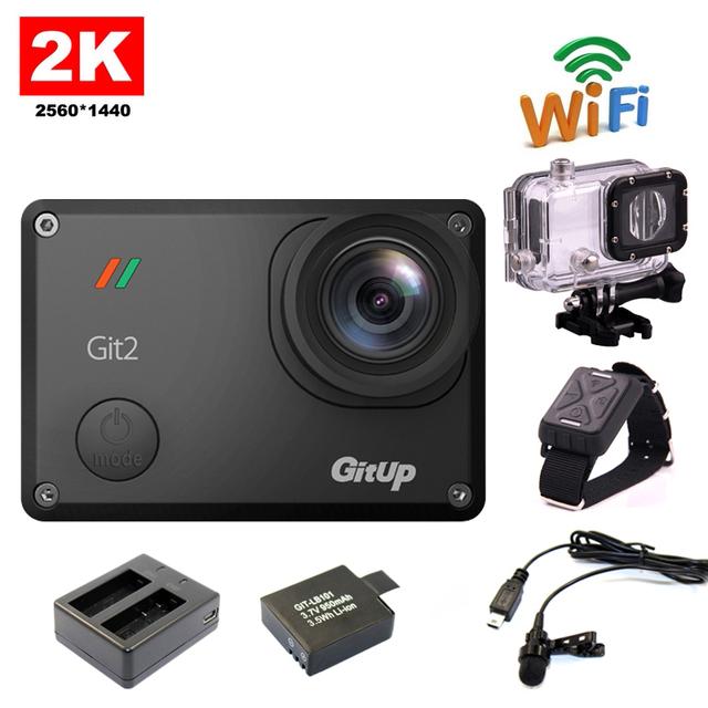Frete grátis!! Gitup Git2 Câmera Novatek 96660 1080 P Wi-fi 2 K Esporte Helemet + Extra 1 pcs bateria + Carregador de Bateria + Mic + Controle Remoto