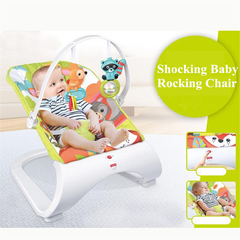 2017 Brand New Health and safety,Baby Multi-function Shock Rocking Chair Free Drop Shipping Baby Metal Shake Rocking Chairs safety and health essentials