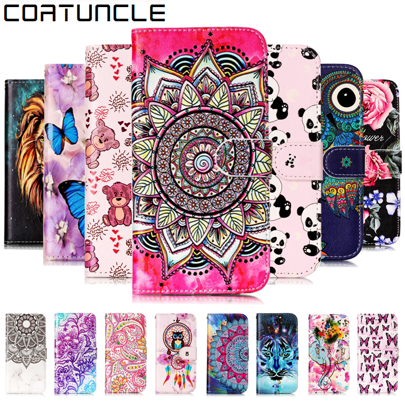 COATUNCLE Flip Leather Case sFor Fundas Samsung Galaxy S6 Edge case For coque Samsung S6 3D Relief Wallet Cover Stand Phone Case