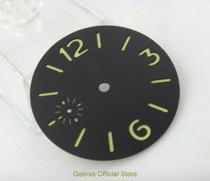Image 3 - 36,3mm GEERVO moda steril ışıklı Sayı siyah dial fit 6497 hareketi erkek saati arama 06
