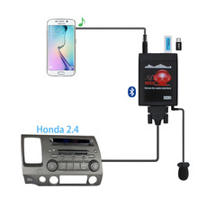 Moonet Bluetooth Adattatore per Auto MP3 USB/AUX Stereo da 3.5mm Auto Senza Fili Hands Free Per La Radio fit Per Honda 2.4 Accord Civic Odyssey