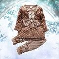 Fashion Baby Girls Autumn  Clothes Kids Long Sleeve Flower  Shirt And Plaid Pant Sets Girsl Clothing Sets