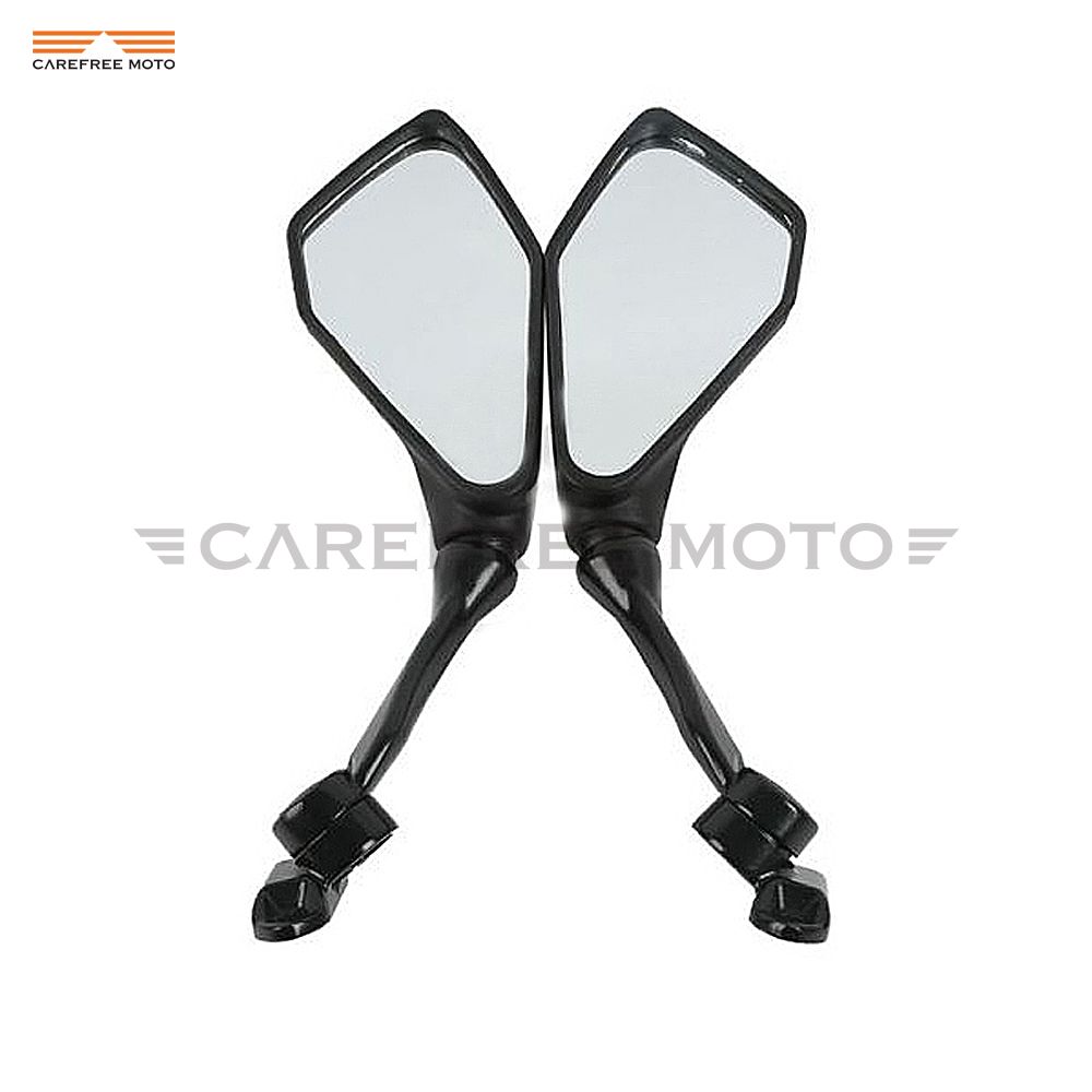 Black Motocycle Mirror Moto Rear View Mirrors case for Kawasaki Ninja ZX6R 636 300R EX300 ABS 2013 2014 2015
