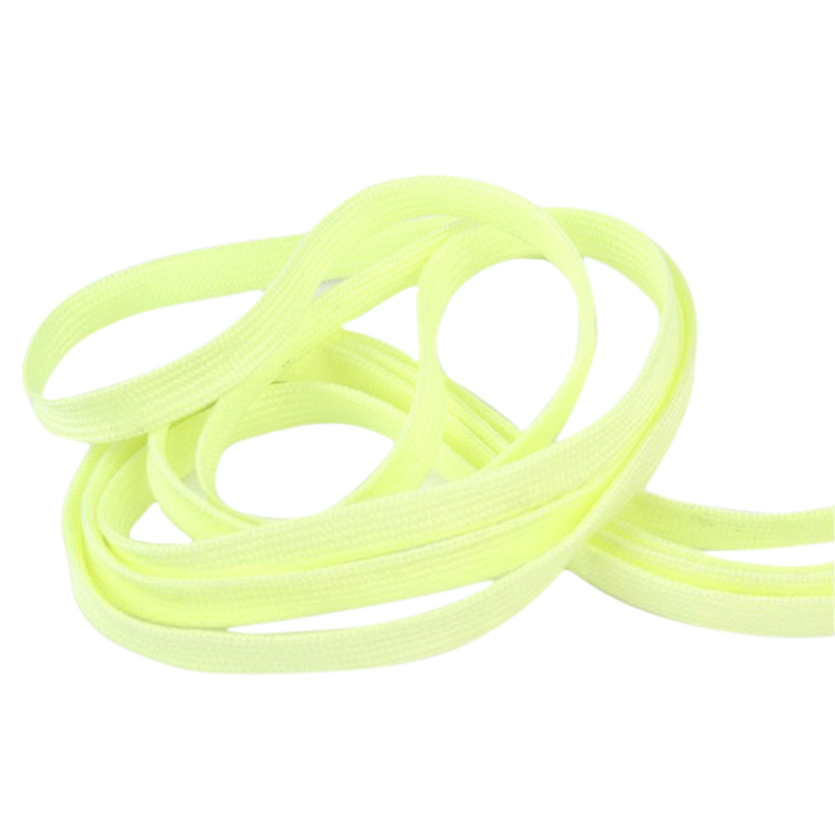 VSEN Shoelaces Light up Flashing glowing Shoe Laces or Fluorescence Shoelaces- Rave Party Accessories,ordinary,yellow fluorescence yellow high visibility