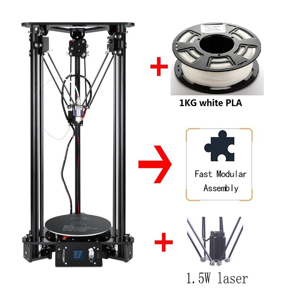 Flambant neuf Haute-précision Delta Kossel 3D Imprimante kit de bricolage 300*320mm Grand 3D Imprimante Taille Avec Laser Gravure la maison De Bureau