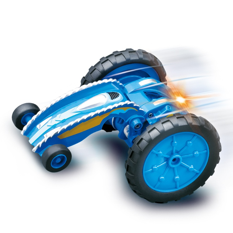 Boy electric Remote Control MINI Stunt Car 2.4G Double-Sided Running 360 Degree Rotation stretch out and draw back Stunt RC Car 360 degrees