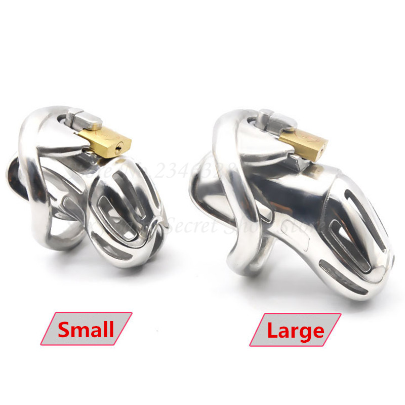 316 Stainless Steel Male Chastity Device with Padlock,Cock Rings,Penis Lock,Virginity Belt,Bondage Sex Toy For Man Drop Shipping