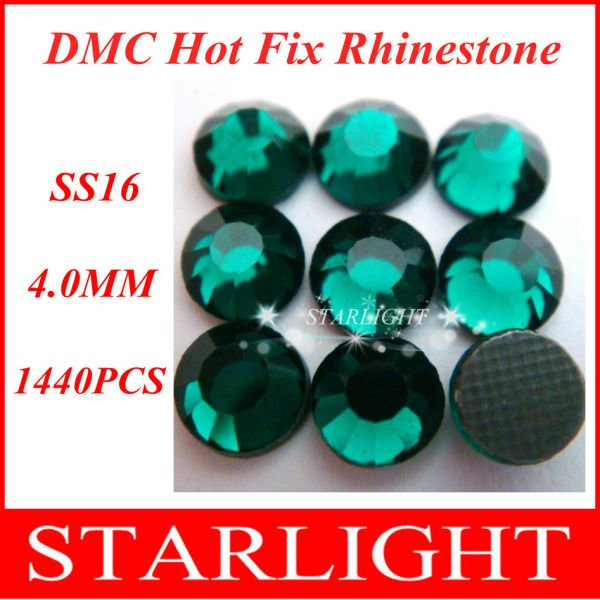 Fast Delivery, ,DMC hot fix  rhinestone, Emerald Color SS16,China post air mail free,1440pcslot star15