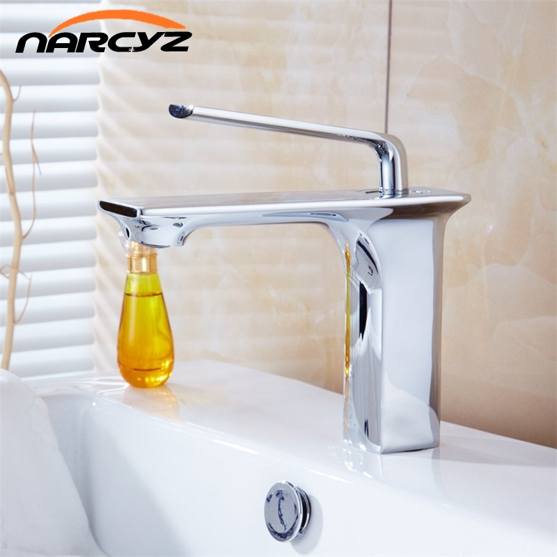 Bathroom basin faucet Brass body tap new luxury single handle hot and cold tap B0912Bathroom basin faucet Brass body tap new luxury single handle hot and cold tap B0912