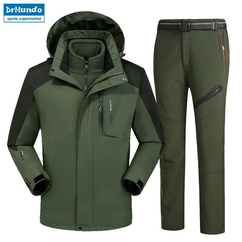 Moutain Men Skiing Ski wear Waterproof Hiking Outdoor jacket Snowboard jacket Ski suit men Large Size