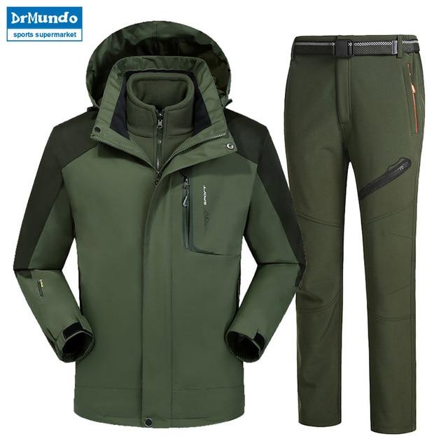 e17a2878c Moutain Men Skiing Ski-wear Waterproof Hiking Outdoor jacket Snowboard jacket  Ski suit men Large Size Snow jackets Plus Size