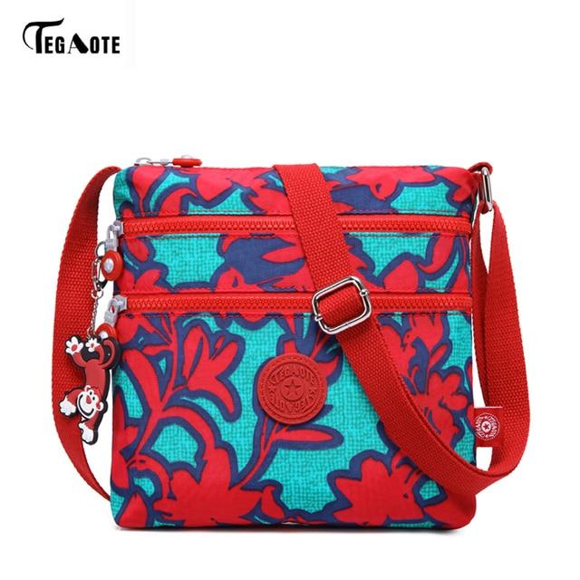 3605578f238a9 TEGAOTE Berühmte Marke Cartoon Nylon Casual Umhängetasche Taschen Affe  Weibliche Schulter Handtasche Wasserdichte Strandtasche Sac Ein