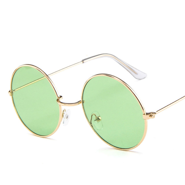 2019 New Women Men Round Sunglasses Steampunk Shades MultiColor Ocean Mirror Lens Goggles Designer Vintage Sun Glasses UV400