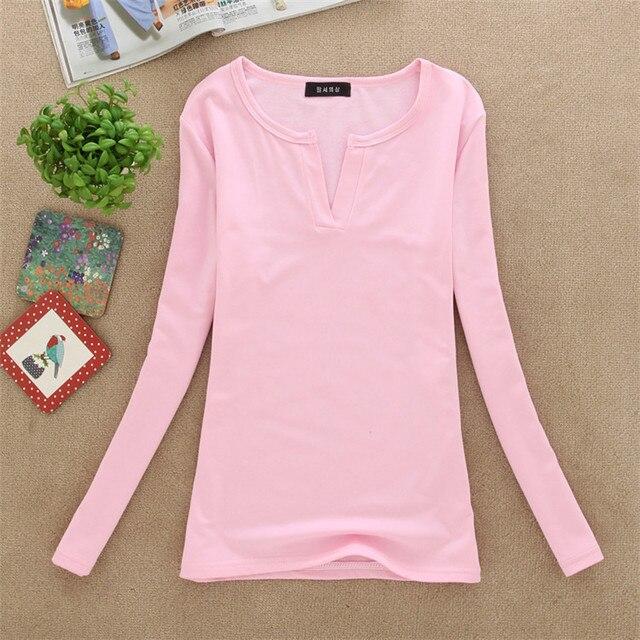 d57e3d5ac1da Women V Neck Solid Casual Shirts T shirt Long Tunic Tops 13 Color One Size  Free Shippping