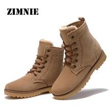 ZIMNIE High Quality Women Boots Winter Casual Brand Warm Shoes Men Unisex Men Boots Leather Plush Fur Fashion Boots Shoes Woman