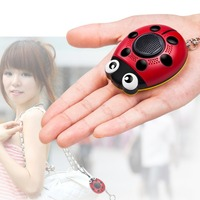 LESHP Self Defense Alarm 130db Anti Attack Loud Alarm Personal Keychain Defense With Loudspeaker SOS Lighting