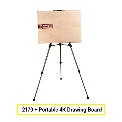 Portable 4K Easel Board Painting Easel Set Sketch/Drawing Shelves Aluminium Art Easel For Painting adjustable portable easel for painting aluminium metal easel stand with paper holding 4k easel board
