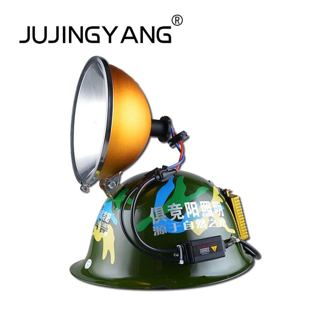 JUJINGYANG 12V helmet lamp outdoor  hunting fishing HID xenon headlamp