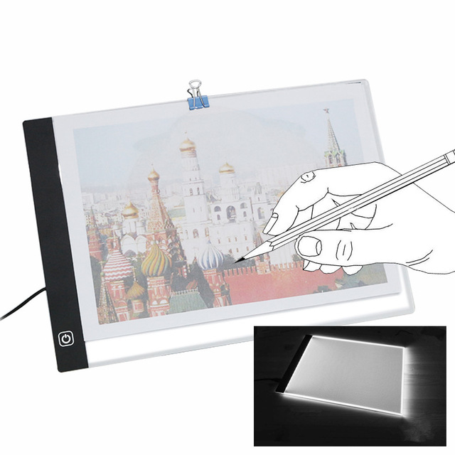 A4 Adjustable Ultra Thin LED Copy Board Light Box Tattoo Tablet Stencil Board Tracing LED Light Pad