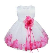 Loose Flower Petals Kids Dress