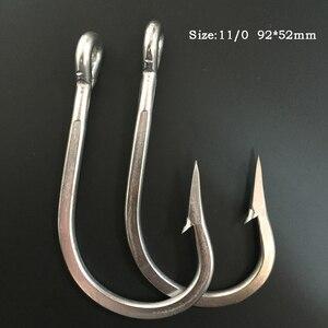 CN03 11/0 15 шт рыболовный крючок из нержавеющей стали для соленой воды крючок для колючей рыбалки большой игровой рыболовный крючок для рыбалки