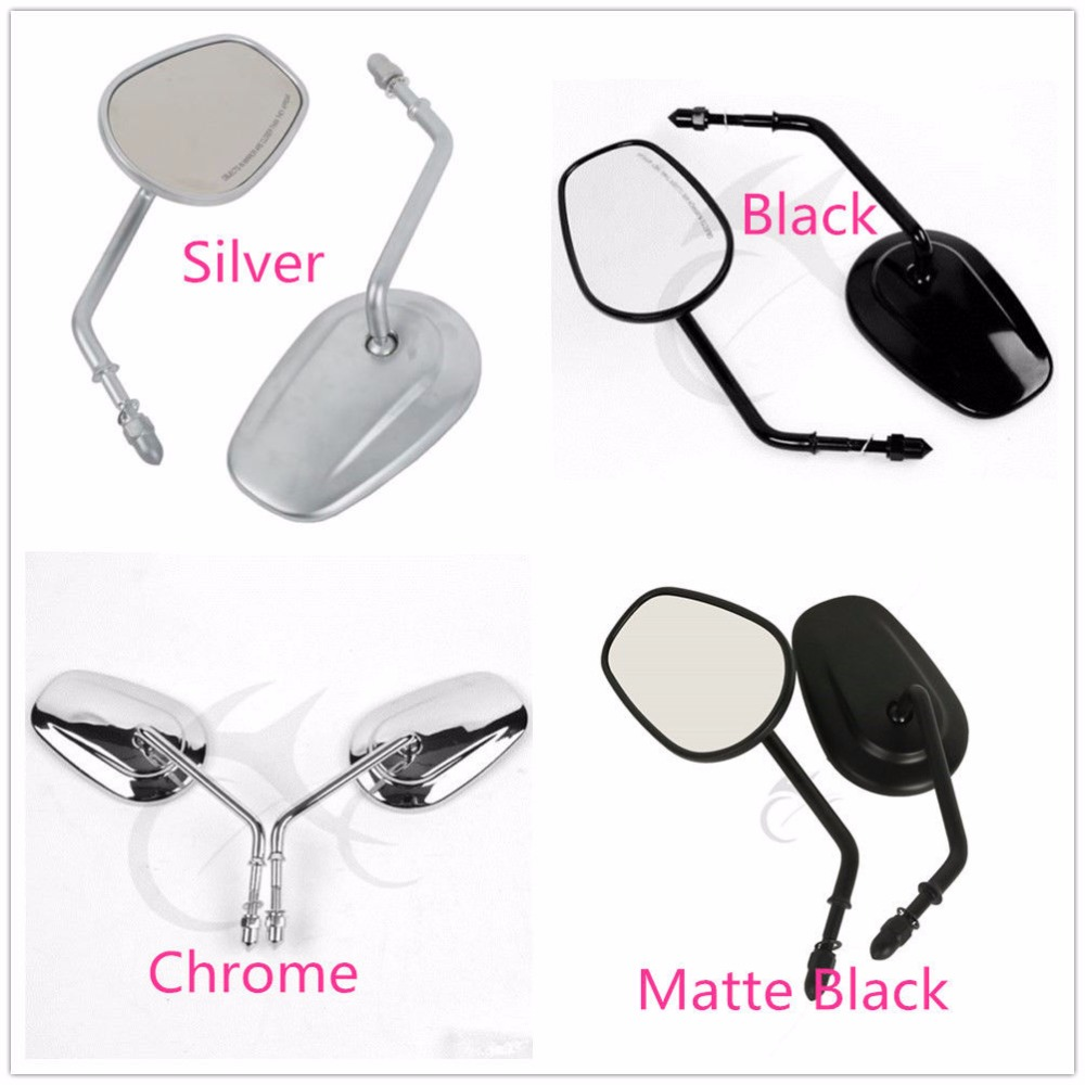 Motorcycle Rear view Side Mirrors For Harley Bobber Chopper Road Touring XL1200L XL883 XL883L Sportster Fatboy Softail Heritage chrome motorcycle mirror moto side rear view mirrors with 8mm case for harley touring softail fat boy sportster flhtk 883 1200