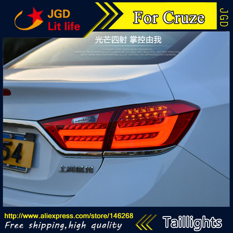 Car Styling tail lights for Cruze 2015 2016 taillights LED Tail Lamp rear trunk lamp cover drl+signal+brake+reverse car styling tail lights for ford ecopsort 2014 2015 led tail lamp rear trunk lamp cover drl signal brake reverse